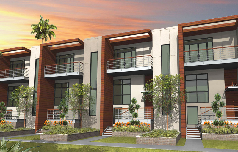Cool contemporary row houses contemporary simple design for Modern row house plans